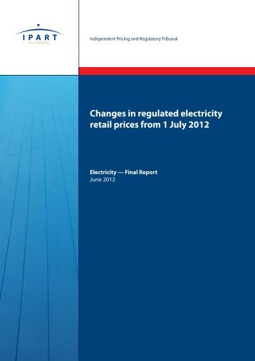 Changes in regulated electricity retail prices from 1 July 2012