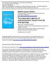 The Unbearable Lightness of Authoritarianism: Lessons from the ...