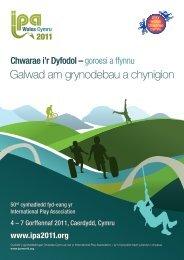 Galwad am grynodebau a chynigion - IPA 2011