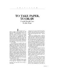 TO TAKE PAPER, TO DRAW - Academic Program Pages at Evergreen