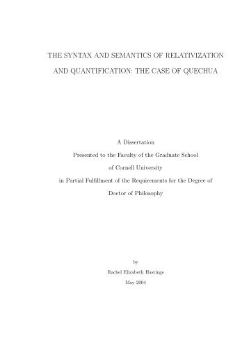 the syntax and semantics of relativization and quantification