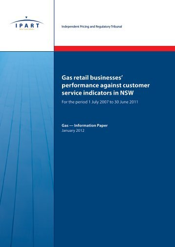 Gas retail businesses' performance against customer service ...