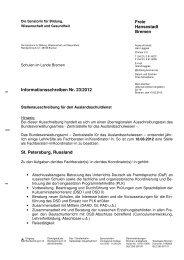 Informationsschreiben Nr. 23/2012 Fachberater/-in,Koordinator