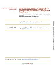Thermophilic Amoebae and Pathogenic Naegleria fowleri in a ...