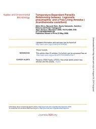 Legionella pneumophila - Applied and Environmental Microbiology ...