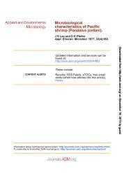 Microbiological Characteristics of Pacific Shrimp - Applied and ...