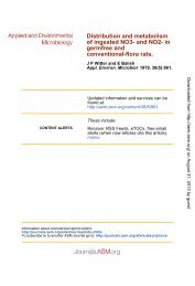 in Germfree and Conventional-Flora Rats - Applied and ...