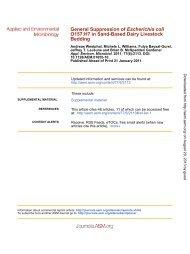 General Suppression of Escherichia coli O157:H7 in Sand-Based ...