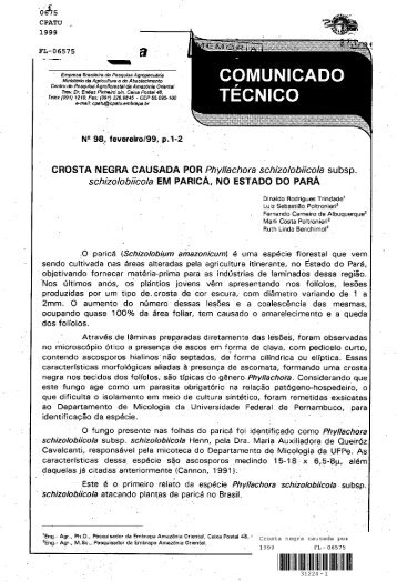 Jis N2 98, fevereiro/99, p.1-2 - CROSTA NEGRA ... - Ainfo - Embrapa