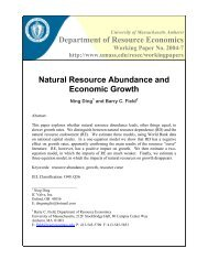 NATURAL RESOURCE ABUNDANCE - AgEcon Search