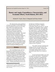 Hunter and Angler Expenditures, Characteristics ... - AgEcon Search