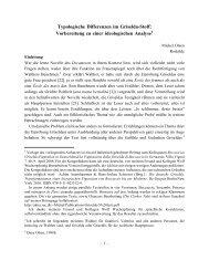 Typologische Differenzen im Griselda-Stoff: Vorbereitung zu einer ...