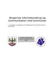 Borgernes informationsbrug og kommunikation med kommunen