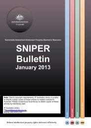 SNIPER Bulletin 2013-01 - IP Australia