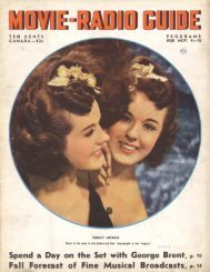 Spend a Day on the Set with George Brent, P· 10 Fall Foreeast of ...