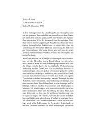Vom inneren Leben - Rudolf Steiner Online Archiv