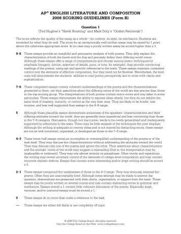 College board english ap essays
