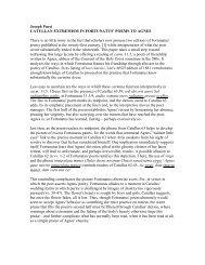 Joseph Pucci CATULLAN EXTREMISM IN FORTUNATUS' POEMS ...