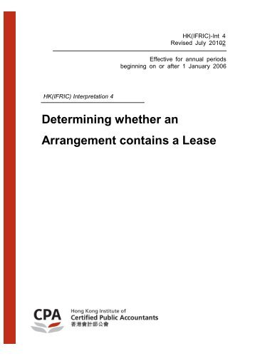 Determining whether an Arrangement contains a Lease