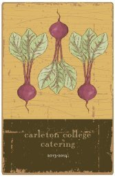 2013-14 Catering Guide - Carleton College