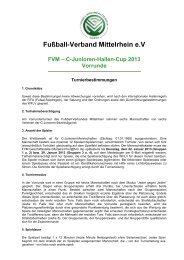 WESTDEUTSCHER FUSSBALL- - Fußball-Verband Mittelrhein e.V.