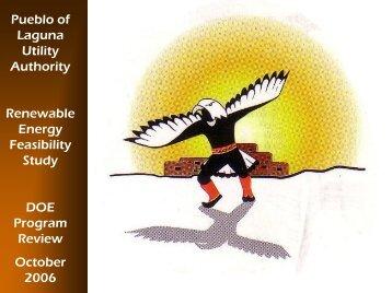 Pueblo of Laguna - Solar, Wind, and Biomass Feasibility Study - EERE