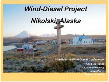 Wind-Diesel Project: Nikolski, Alaska - EERE