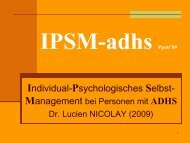 Individual-Psychologisches Selbst-Management bei Personen mit ...
