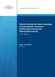 Review of prices for water, sewerage and stormwater services to ...