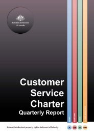 Customer Service Charter Quarterly Report - IP Australia