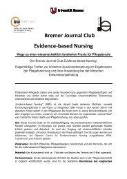 Veranstaltungsflyer (PDF, 117KB) - IPP - Universität Bremen