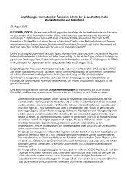 Erklärung - Fukushima Desaster