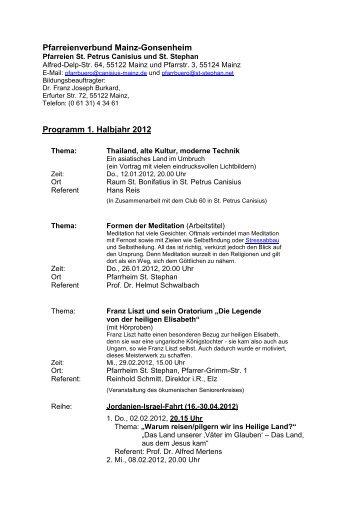 Programm Erwachsenenbildung 2012-1 - beim Bistum Mainz