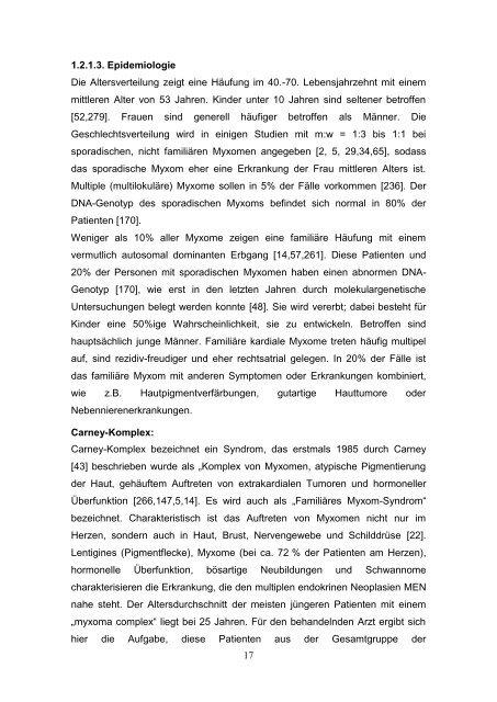 Chirurgische Therapie von primären und sekundären Herztumoren ...
