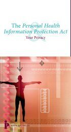 Personal Health Information Protection Act - Information and Privacy ...