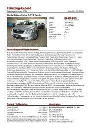 Fahrzeug-Exposé - Autohaus Tiedemann