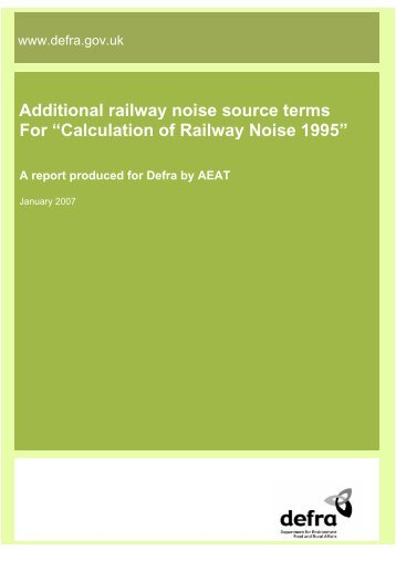 Additional railway noise source terms for ... - ARCHIVE: Defra