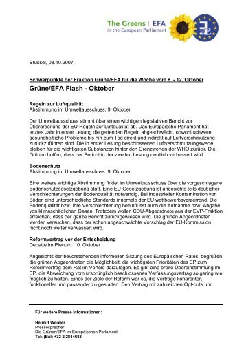 Grüne/EFA Flash - Oktober - The Greens
