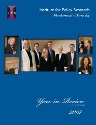 2007 - Institute for Policy Research - Northwestern University