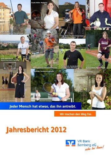 Geschäftsbericht 2012 - VR Bank Bamberg eG