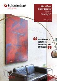 Stiftungsbrief 02-2013 - Schoellerbank