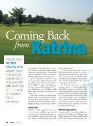 new orleans' metairie country club was battered by hurricane katrina ...