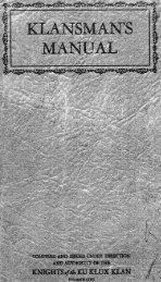 Klansman's Manual