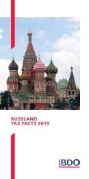 RUSSLAND TAX FACTS 2013 - BDO