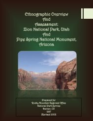 Ethnographic Overview And Assessment: Zion National Park, Utah ...