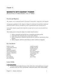MARKETS WITH MARKET POWER - Tufts University