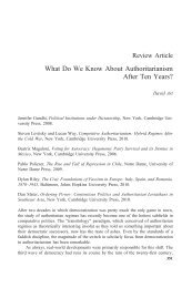 What Do We Know About Authoritarianism After ... - Tufts University
