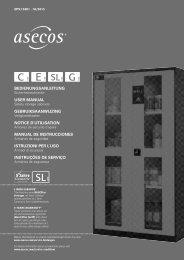 BEDIENUNGSANLEITUNG USER MANUAL ... - asecos GmbH