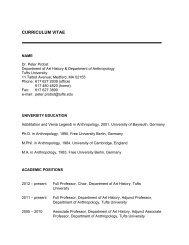Download the professor's CV - Tufts University