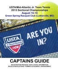 2013 MAS JTT Sectionals Captains Guide - USTA.com